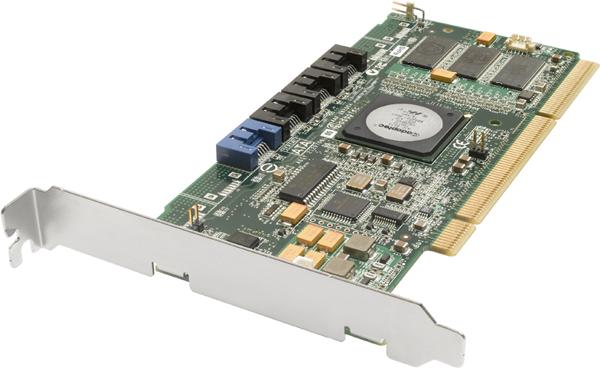 Контроллер Adaptec AAR-2420SA/128+ (RTL) PCI-X, SATA-II 300, RAID 0/1/5/10, до 4-х уст-в, Cache 128Mb
