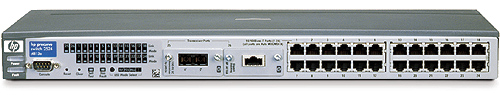 Коммутатор HP ProCurve Switch 2524 1U (24 ports 10/100, 2 open transceiver slots, 9.6Gb/s)