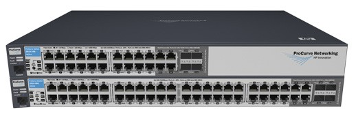 Коммутатор HP ProCurve Switch 2810-24G   (20 ports 10/100/1000 +4 10/100/1000 or 4Gbics, Managed, Layer 2, Stackable 19')