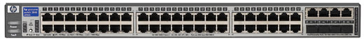 Коммутатор HP ProCurve Switch 2848 1U (44x10/100/1000, 4 ports 10/100/1000 or mini-GBIC, 96Gb/s)
