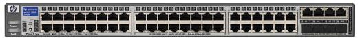 Коммутатор HP ProCurve Switch 2848 1U (44x10/100/1000, 4 ports 10/100/1000 or mini-GBIC, 96Gb/s)