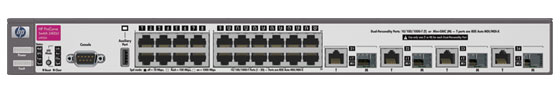 Коммутатор HP ProCurve Switch 3400cl-24g 1U (20x10/100/1000, 4 ports 10/100/1000 or mini-GBIC, 88Gb/s)