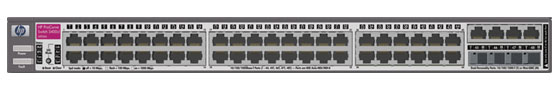 Коммутатор HP ProCurve Switch 3400cl-48G 1U (44x10/100/1000, 4 ports 10/100/1000 or mini-GBIC, 138Gb/s)