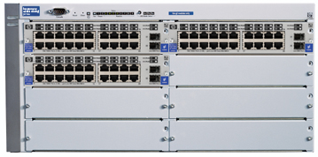 Шасси HP ProCurve Switch 4160gl   5U (3 slots 20x10/100/1000 + 2 mini-GBIC, 5 open slots, 36.6Gb/s)