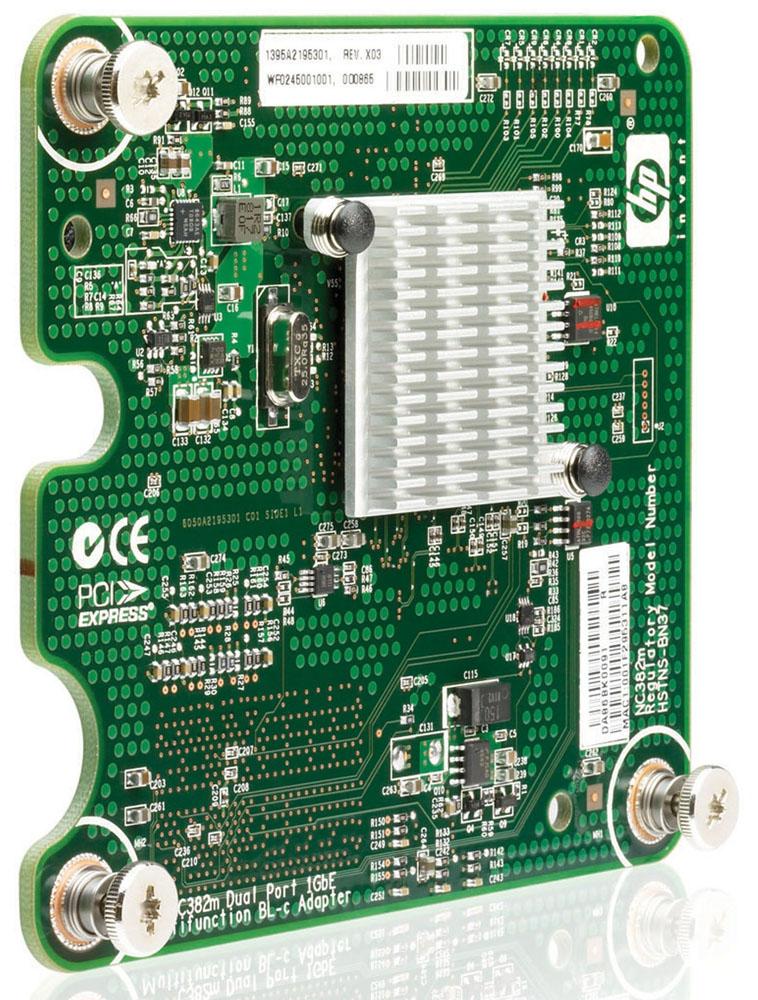 Сетевая плата HP NC382m Dual Port 1Gb Multifunction Network Adapter (BL260,46xGx,480,495G5,68xGx)