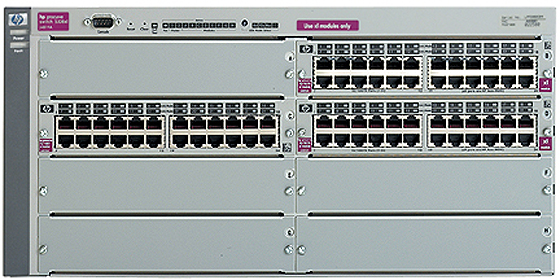 Шасси HP Procurve Switch 5372xl 5U (3 slots 24x10/100, 5 open slots, 76.8Gb/s)