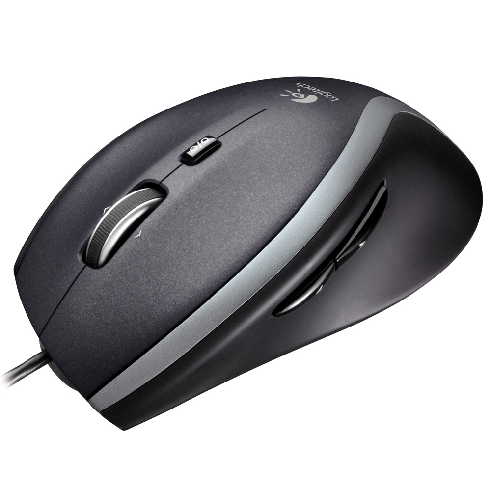 Манипулятор Мышь Logitech Corded Mouse M500, Black, Rtl, [910-001202]
