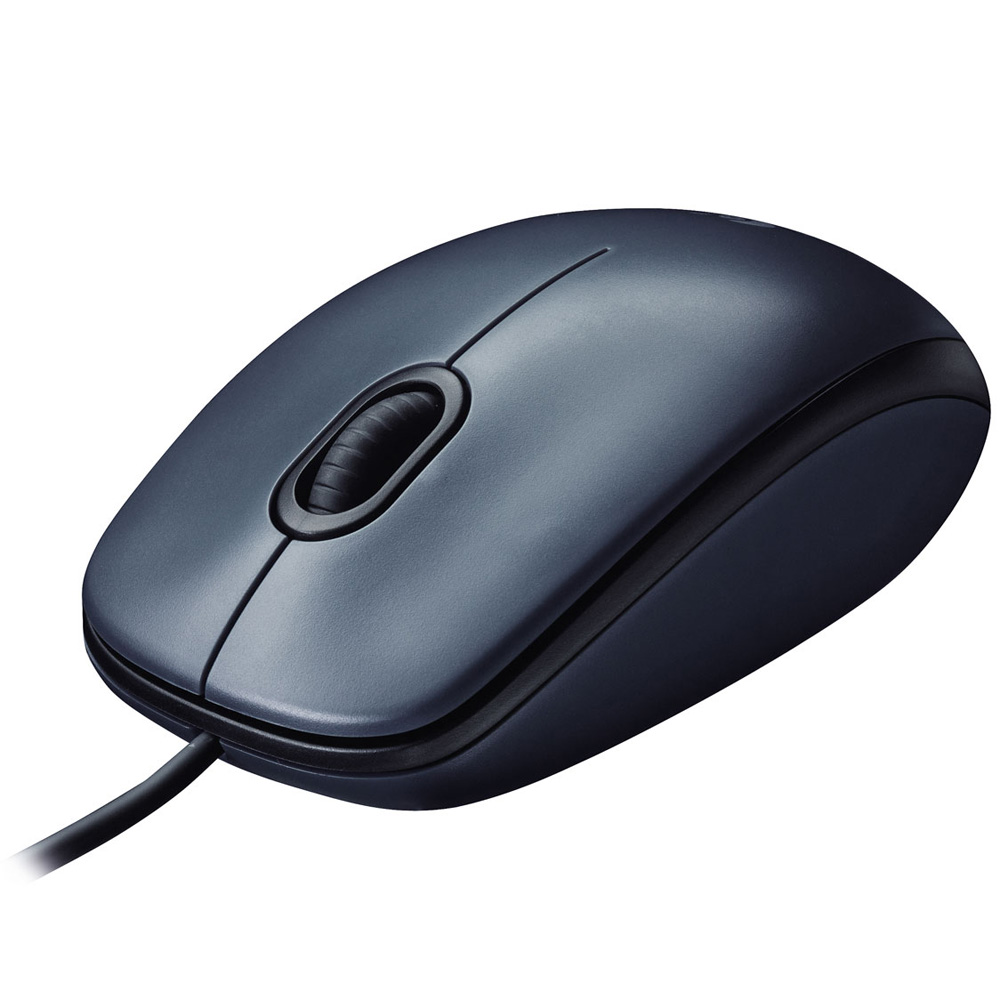 Logitech Mouse M100, Grey Dark, USB, [910-001604]
