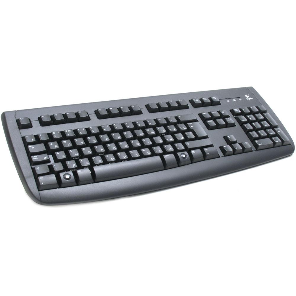 Клавиатура Logitech Deluxe Keyboard 250 USB, black, oem (967738-0112)