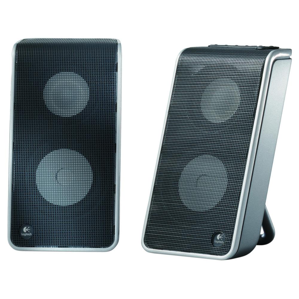 Logitech Speaker System V-20, 2.0, 2W(RMS), USB, Black [970155-0914]