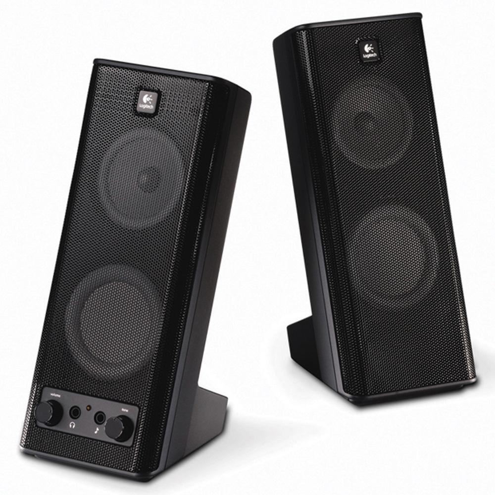 Logitech Speaker System X-140, 2.0, 5W(RMS), Black, [970264-0914]
