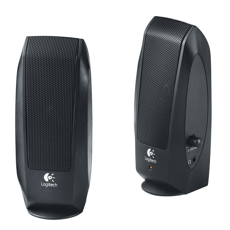 Logitech S-120 Speakers, 2.0, Black, OEM