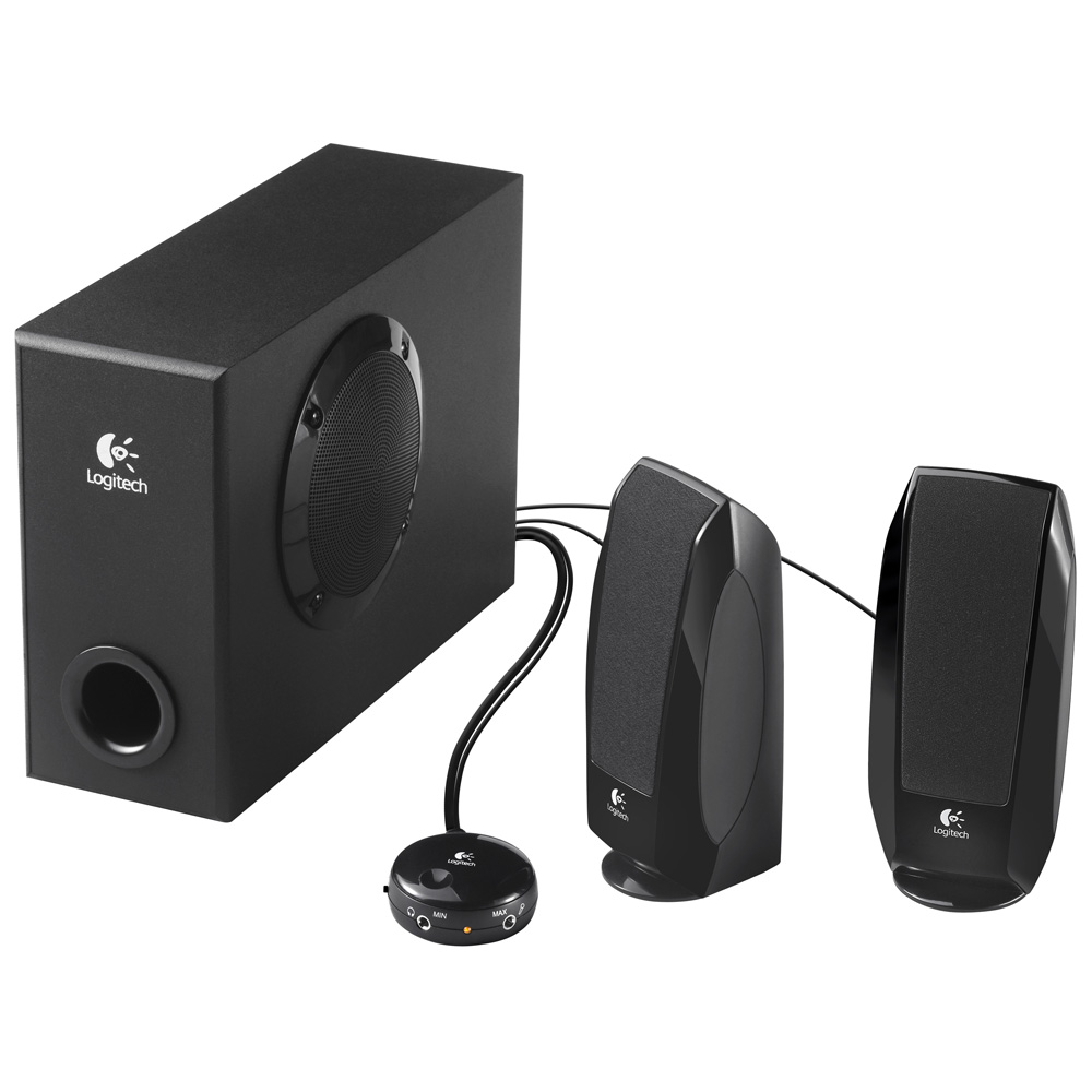 Колонки Logitech S-220 Speakers 2.1, black (980-000021)