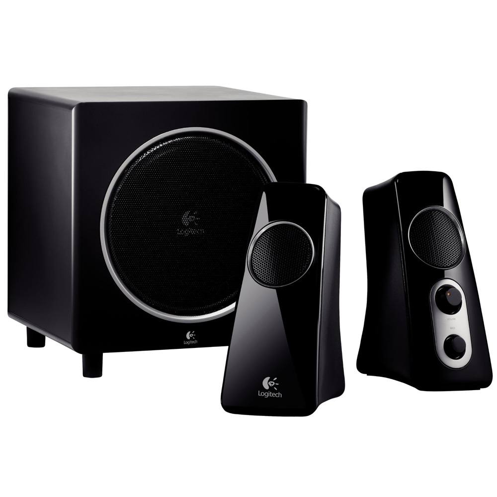 Logitech Speaker System Z523, 2.1, 40W(RMS), Black, [980-000321]