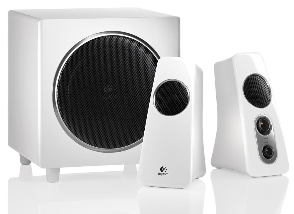 Logitech Speaker System Z523, 2.1, 40W(RMS), White, [980-000367]