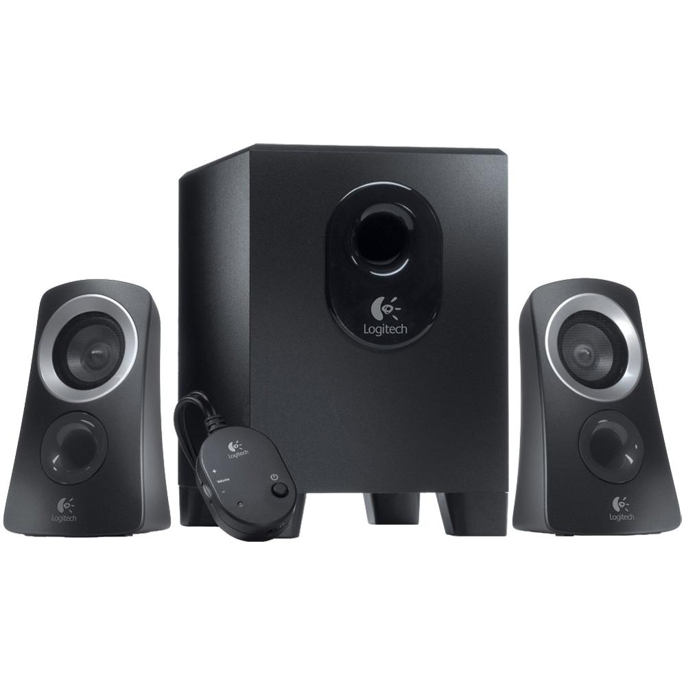 Logitech Speaker System Z313, 2.1, 25W(RMS), Black, [980-000413]