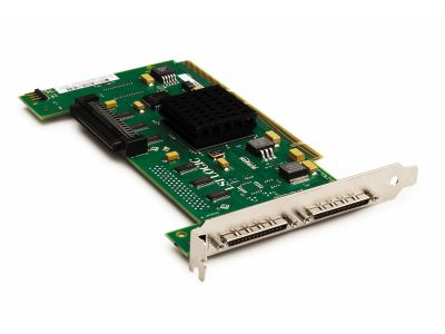 Dual Channel Ultra320 SCSI Adapter (PCI-E x4, 2ext - All Srv/Wrst), incl. h/h and f/h. brckts