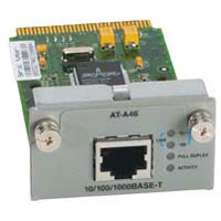Allied Telesis Single port 10/100/1000T copper gigabit module for 8024M, 8016F and 8500 series switches