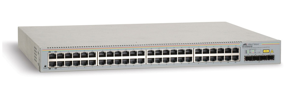 Allied Telesis 48 port 10/100/1000TX WebSmart switch with 4 SFP bays