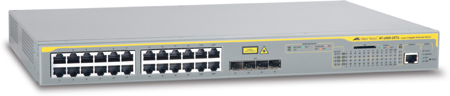Allied Telesis 24-Port Gigabit Advanged Layer 3 Switch w, 4 Combo SFP (+ 1 year soft update, phone support)