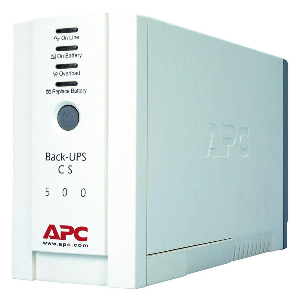 Источник бесперебойного питания APC Back-UPS CS 500 (500VA/300W), 230V, user repl. batt.