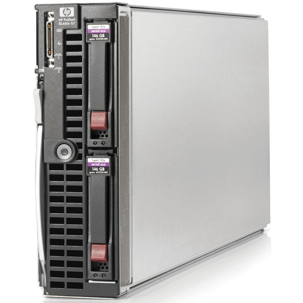 Blade сервер HP ProLiant BL460с G7   Xeon E5506 QC (Xeon 2.13GHz, 4MB, 3x2GbRD, RAID P410i(ZM) 1, 0, no SFF HDD(2), 2xFlex1, 10Gb CNA, iLO blade edit, 1slot in Encl)