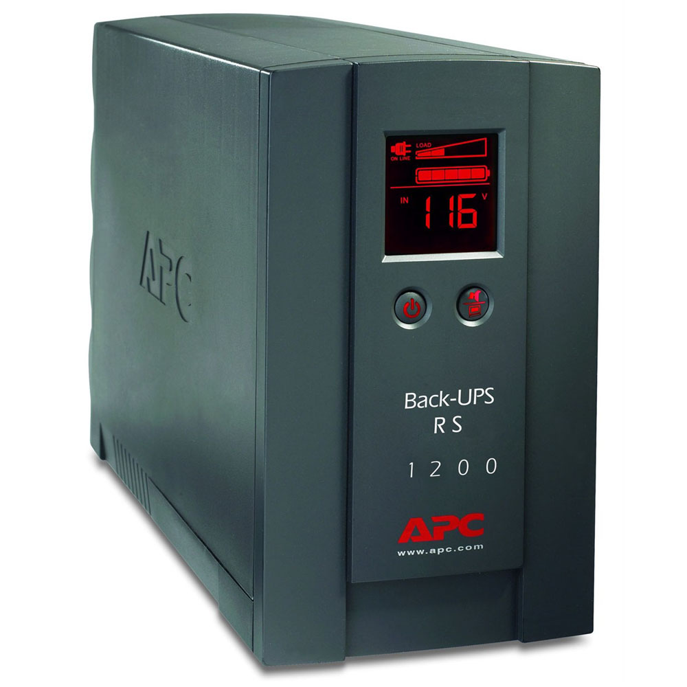 Источник бесперебойного питания APC Back-UPS RS 1200VA/720W, 230V, LCD, USB Interface, Cold-start, Data line Surge Protection (DSL RJ-11), Hot Swap Batteries, PowerChute