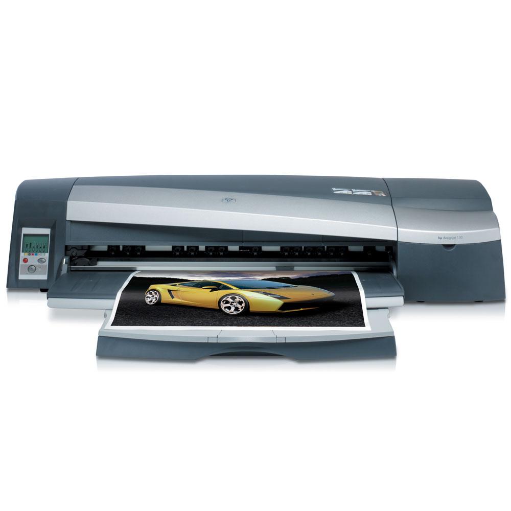 Широкоформатный принтер (плоттер) HP DesignJet 130   (A1+, 6 color, 2400dpi, 64Mb, USB/Parallel/EIO, A2+ 150, sheet tray, sheed feed)
