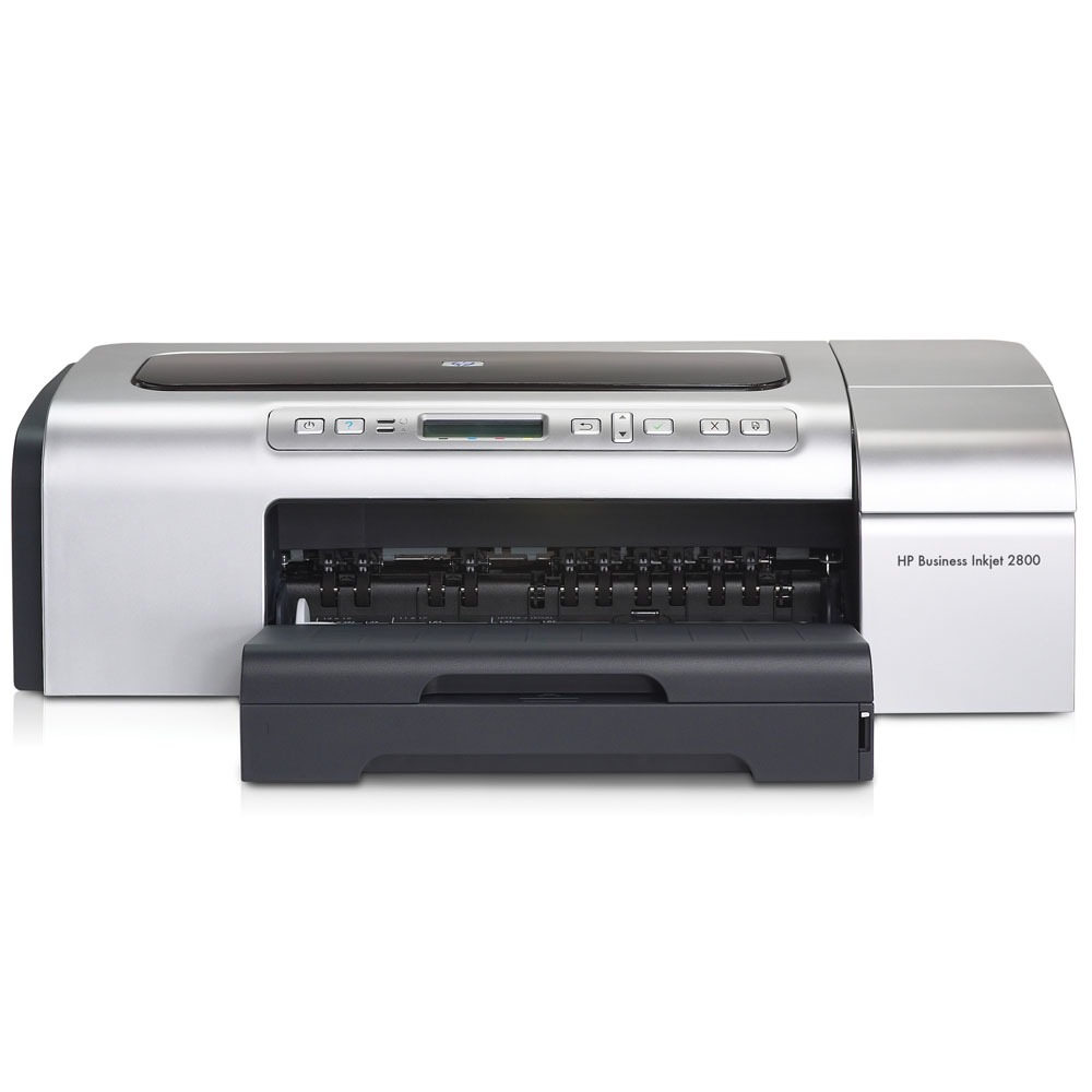 HP Business Inkjet Printer 2800 (4head/4cartriges, A3+, 4800x1200dpi, 24(21)ppm, 96Mb, 1tray 150, PS, USB/Parallel/EIO)