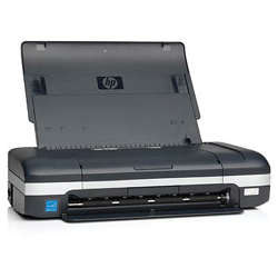 HP Officejet H470b (2 cartriges, A4, 4800dpi, 22/18ppm, 32Mb, 1tray 50, USB/PictureBridge/Card Slots, Photo capable, battery, replace C8151A)