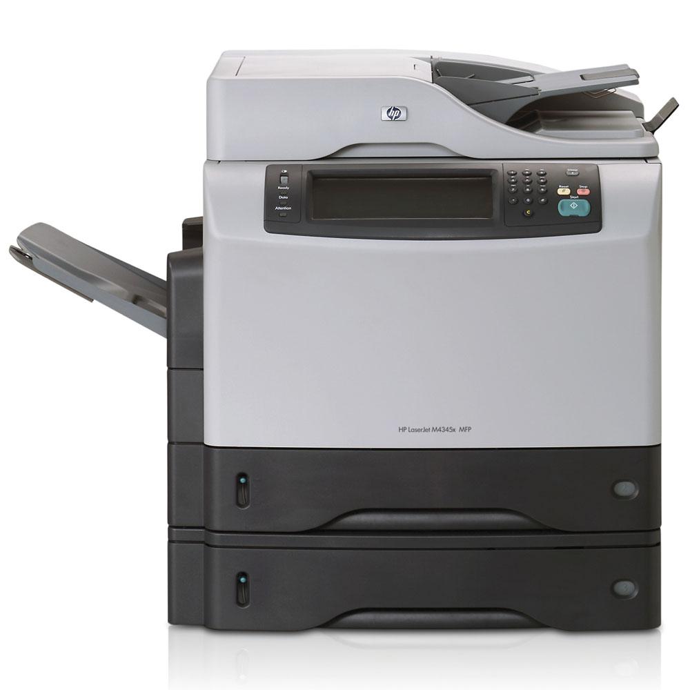 Черно-белое лазерное МФУ HP LaserJet M4345x MFP   (p/c/s/fax, A4, 1200dpi, 43ppm, 256Mb, 40Gb, 3trays 100+2*500, ADF 50, Duplex, USB/LAN/FIH/EIO)