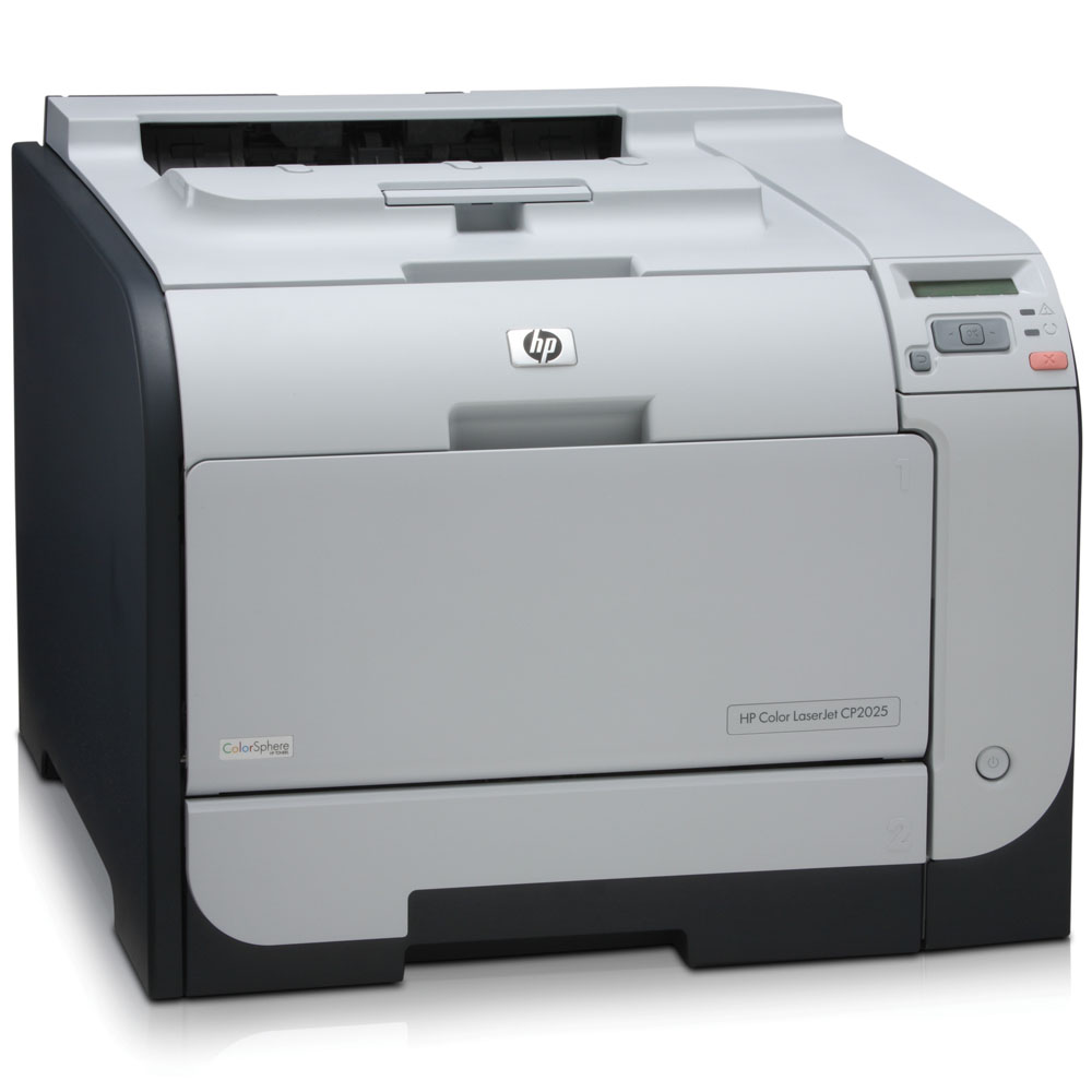 Цветной лазерный принтер HP Color LaserJet CP2025   (A4, 600x600dpi, 20(20)ppm, ImageREt3600, 128Mb, 2trays 50+250, USB, Postscript3, 4Cartriges1200pages in box )