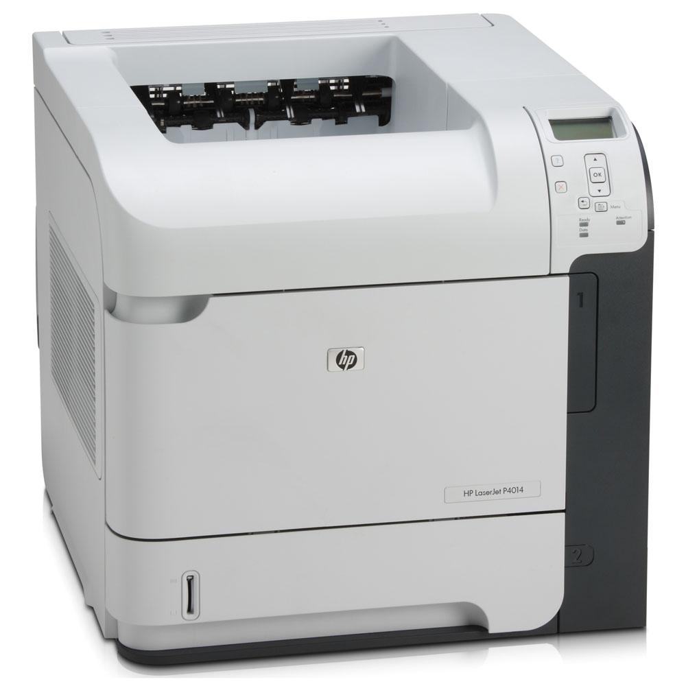 Черно-белый лазерный принтер HP LaserJet P4014 (A4, 1200dpi, 43ppm, 96Mb, 2 trays 500+100, USB/EIO, Postscript)