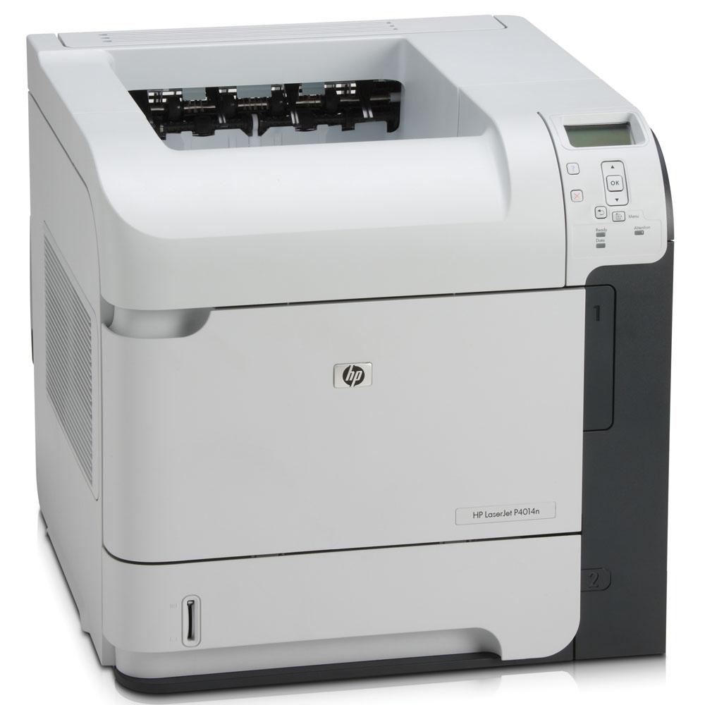 Черно-белый лазерный принтер HP LaserJet P4014n (A4, 1200dpi, 43ppm, 128Mb, 2 trays 500+100, USB/GigEth/EIO, Postscript)