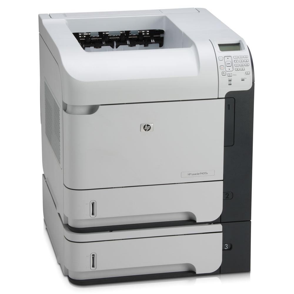 Черно-белый лазерный принтер HP LaserJet P4015x [X=DTN] (A4, 1200dpi, 50ppm, 128Mb, Duplex, 3 trays 2*500+100, USB/GigEth/EIO, Postscript)