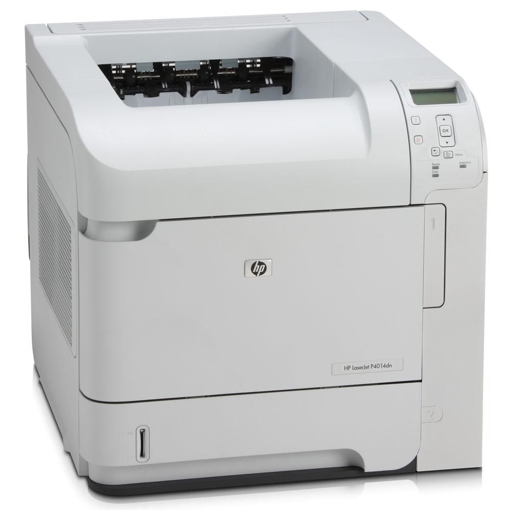 Черно-белый лазерный принтер HP LaserJet P4014dn (A4, 1200dpi, 43ppm, 128Mb, 2 trays 500+100, Duplex, USB/GigEth/EIO, Postscript)