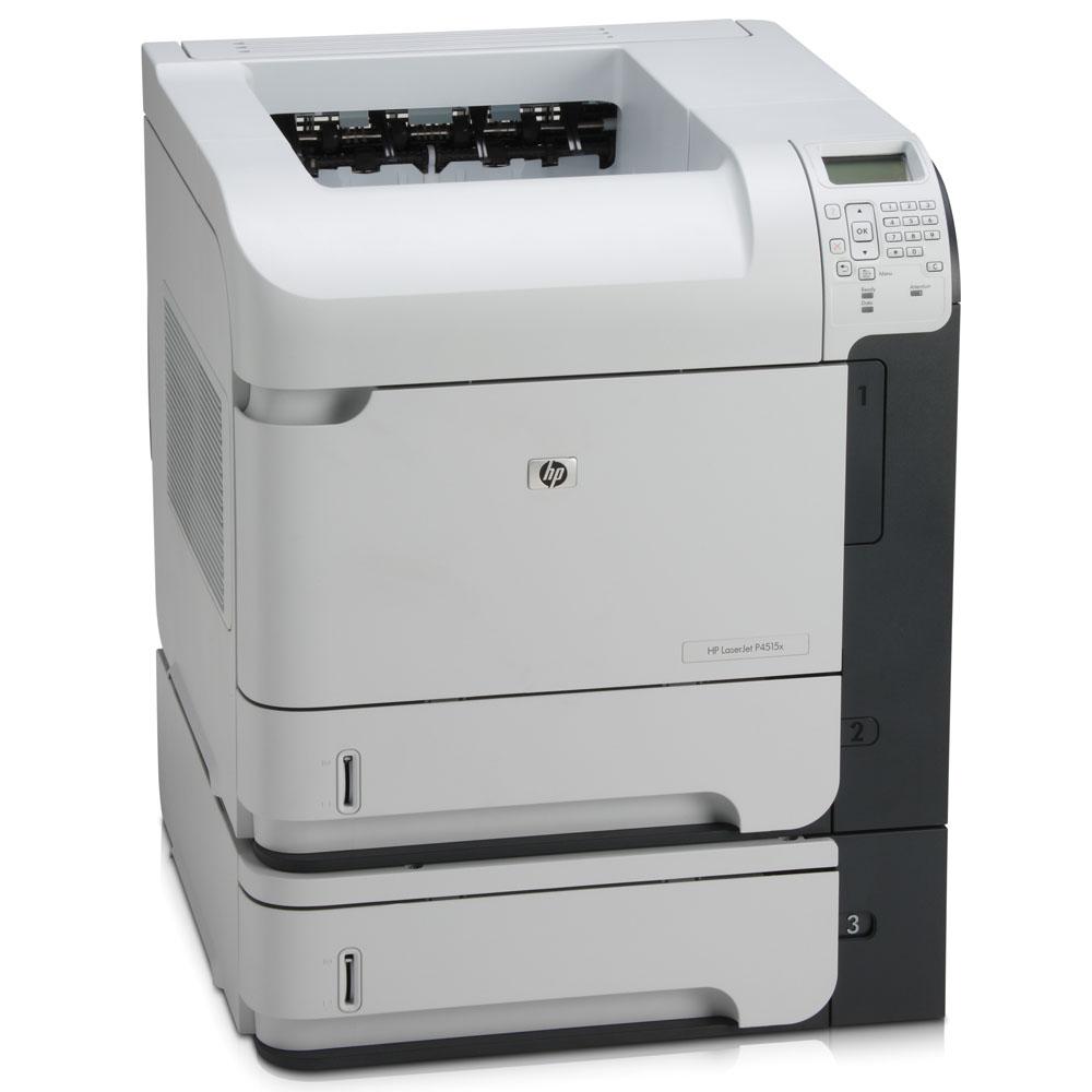 Черно-белый лазерный принтер HP LaserJet P4515x [X=DTN] (A4, 1200dpi, 60ppm, 128Mb, Duplex, 3 trays 2*500+100, USB/GigEth/EIO, Postscript)