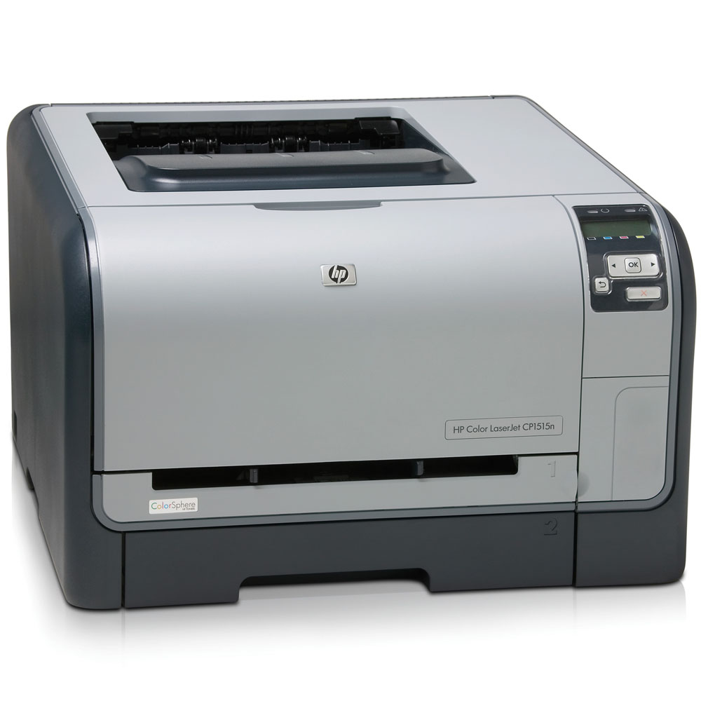 Цветной лазерный принтер HP Color LaserJet CP1515n   (A4, 600x600dpi, 8(12) ppm, 96Mb, 21 trays 1+150, USB/LAN, replace Q6455A)