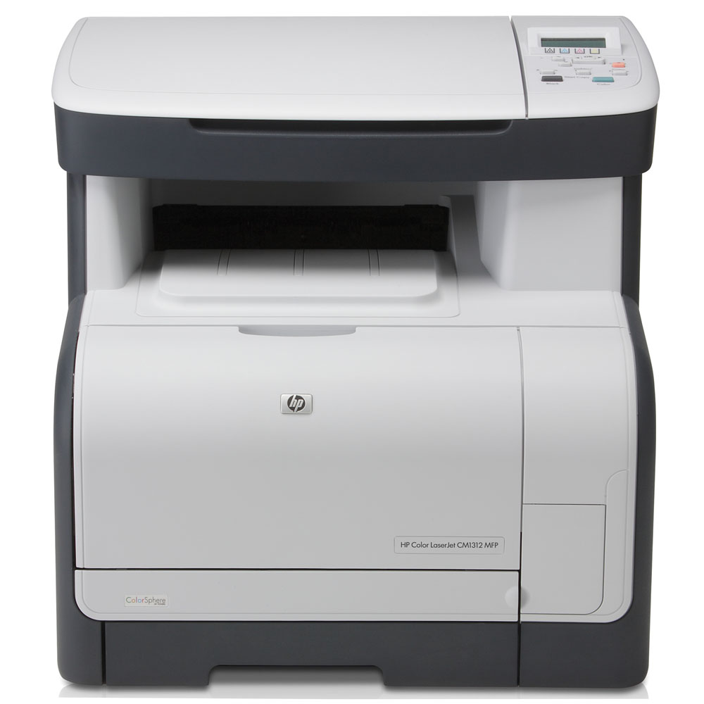 Цветное лазерное МФУ HP Color LaserJet CM1312 (p/c/s, 600x600dpi, ImageREt3600, 12/8 ppm, 128Mb, Flatbed Scaner 1200dpi, tray 150, USB, 4 Cartriges 750pages in box)