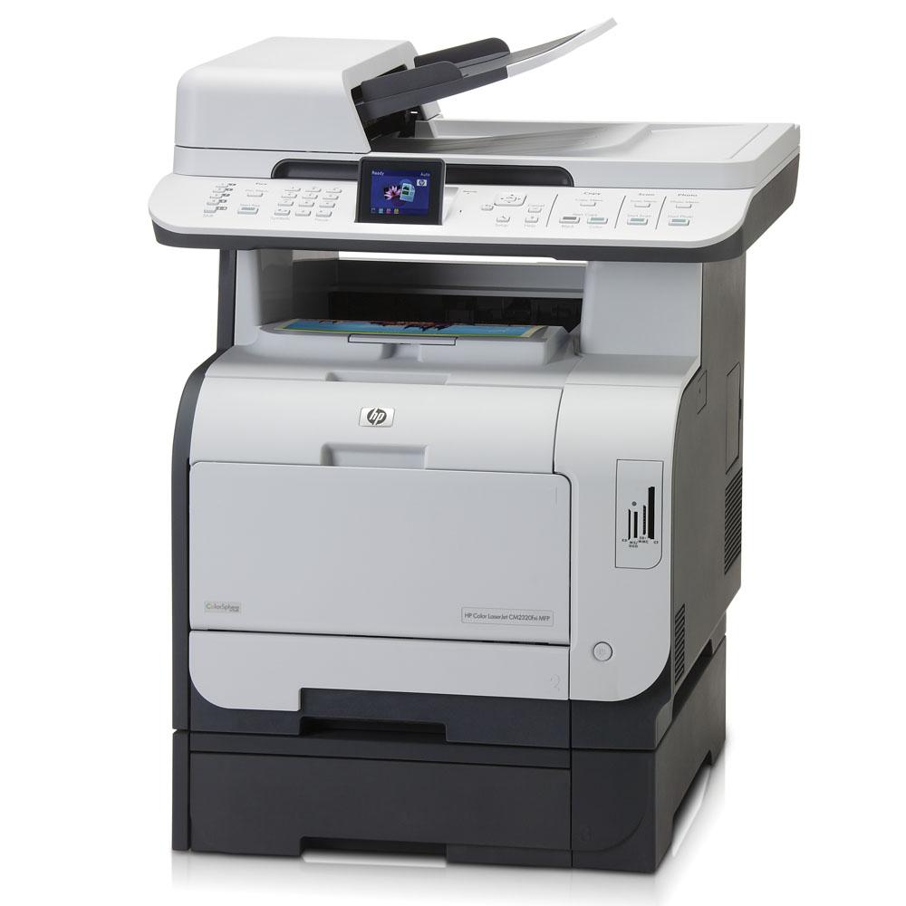 Цветное лазерное МФУ HP Color LaserJet CM2320fxi MFP (p/s/c/f, A4, 600dpi, 20(20)ppm, 160Mb, 3 trays 50+2*250, ADF 50 sheets, Duplex, LCD, USB/LAN, Card Slots, replace Q3950A)