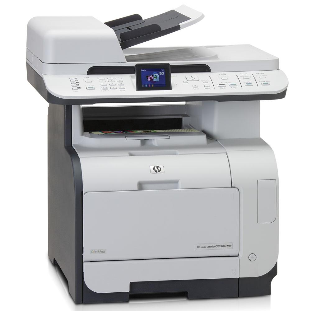 Цветное лазерное МФУ HP Color LaserJet CM2320nf MFP (p/s/c/f, A4, 600dpi, 20(20)ppm, 160Mb, 2 trays 50+250, ADF 50 sheets, LCD, USB/LAN, replace Q3948A)