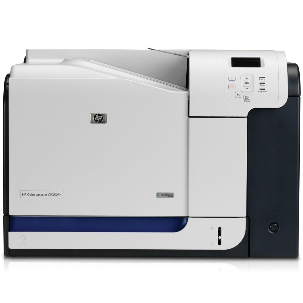 Цветной лазерный принтер HP Color LaserJet CP3525n (A4, 600dpi, ImageREt 3600, 30(30) ppm, 256 Mb, 2 trays 100+250, USB/LAN)