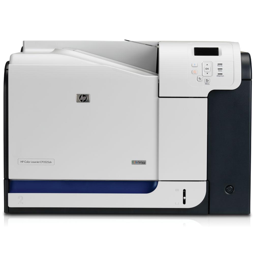 Цветной лазерный принтер HP Color LaserJet CP3525dn (A4, 600dpi, ImageREt 3600, 30(30) ppm, 384 Mb, 2 trays 100+250, Duplex, USB/LAN)