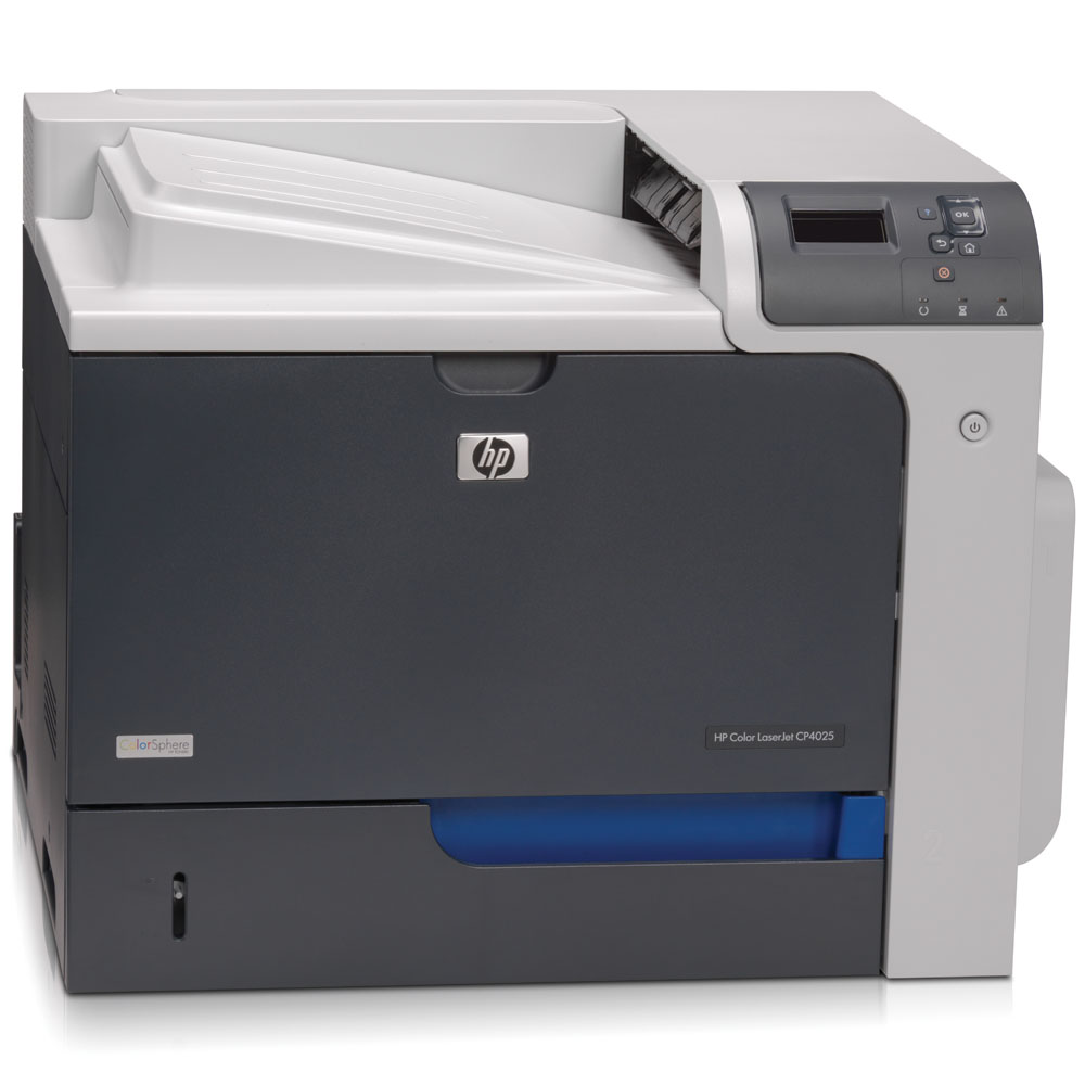 Цветной лазерный принтер HP Color LaserJet Enterprise CP4025n Printer   (A4, 1200dpi, 35(35)ppm, ImageRET 3600, 512Mb, 2trays 500+100, USB/LAN/EIO, replace CB503A)