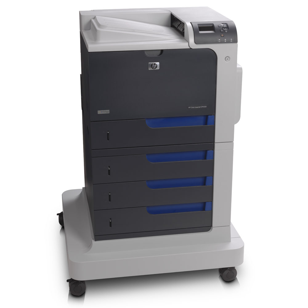 Цветной лазерный принтер HP Color LaserJet Enterprise CP4525xh Printer (A4, 1200dpi, 40(40)ppm, 1Gb, HDD, 5trays 4*500+100, USB/LAN/EIO, Duplex, printer stand, repl. Q7494A)