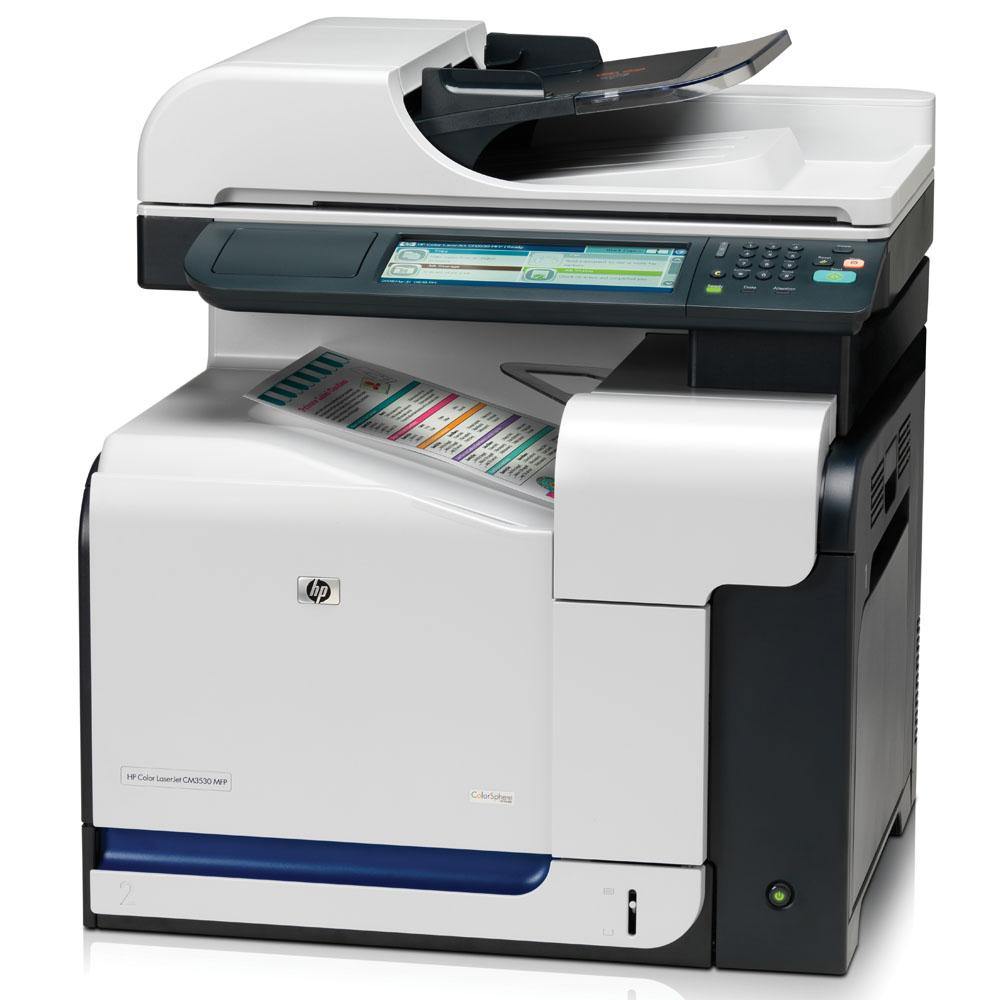 Цветное лазерное МФУ HP Color LaserJet CM3530 MFP (p/s/c, A4, 600x600dpi, 30(30)ppm, 512 Mb, 80 Gb, 2 trays 100+250, ADF50, Duplex, USB/LAN/EIO)