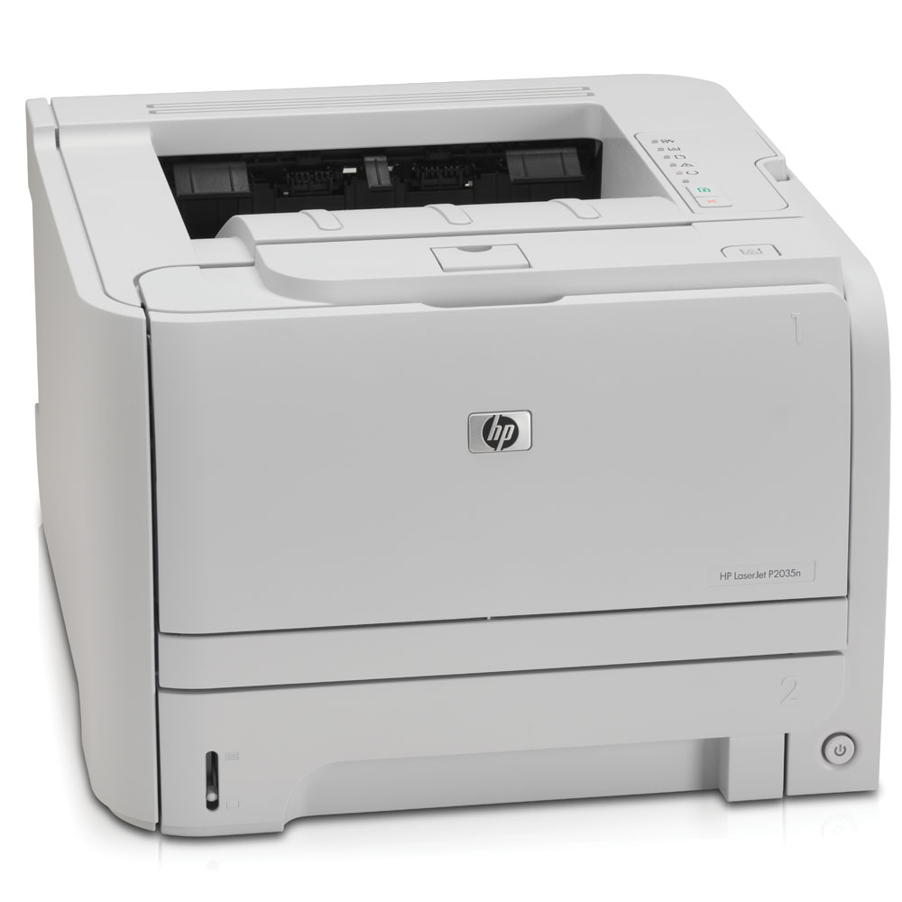 Черно-белый лазерный принтер HP LaserJet P2035n (A4,1200dpi, 30ppm, 16Mb, 2 tray 250+50, USB/LAN, cartridge 1000 pages in box, replace CB450A)