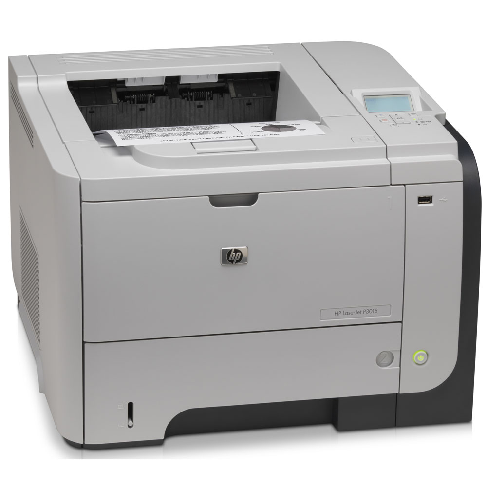 Черно-белый лазерный принтер HP LaserJet Enterprise P3015   (A4, 1200dpi, 40ppm, 96Mb, 2trays 100+500, USB/EIO, replace Q7812A)