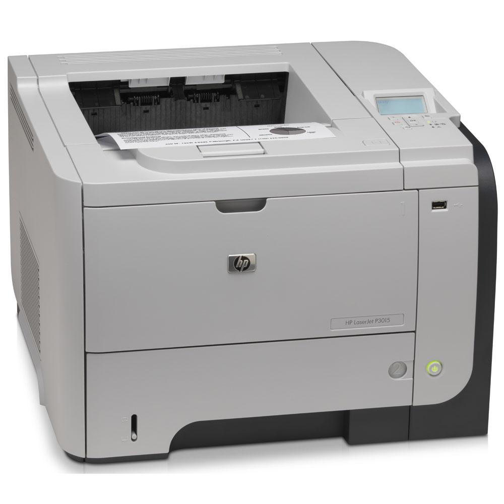 Черно-белый лазерный принтер HP LaserJet Enterprise P3015d (A4, 1200dpi, 40ppm, 128Mb, 2trays 100+500, USB/EIO, Duplex, replace Q7813A)