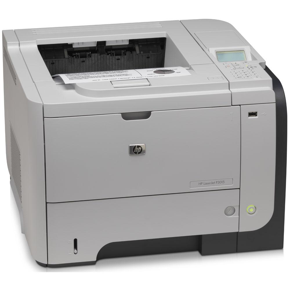 Черно-белый лазерный принтер HP LaserJet Enterprise P3015dn (A4, 1200dpi, 40ppm, 128Mb, 2trays 100+500, USB/GigEth/EIO, Duplex, replace CE528A)